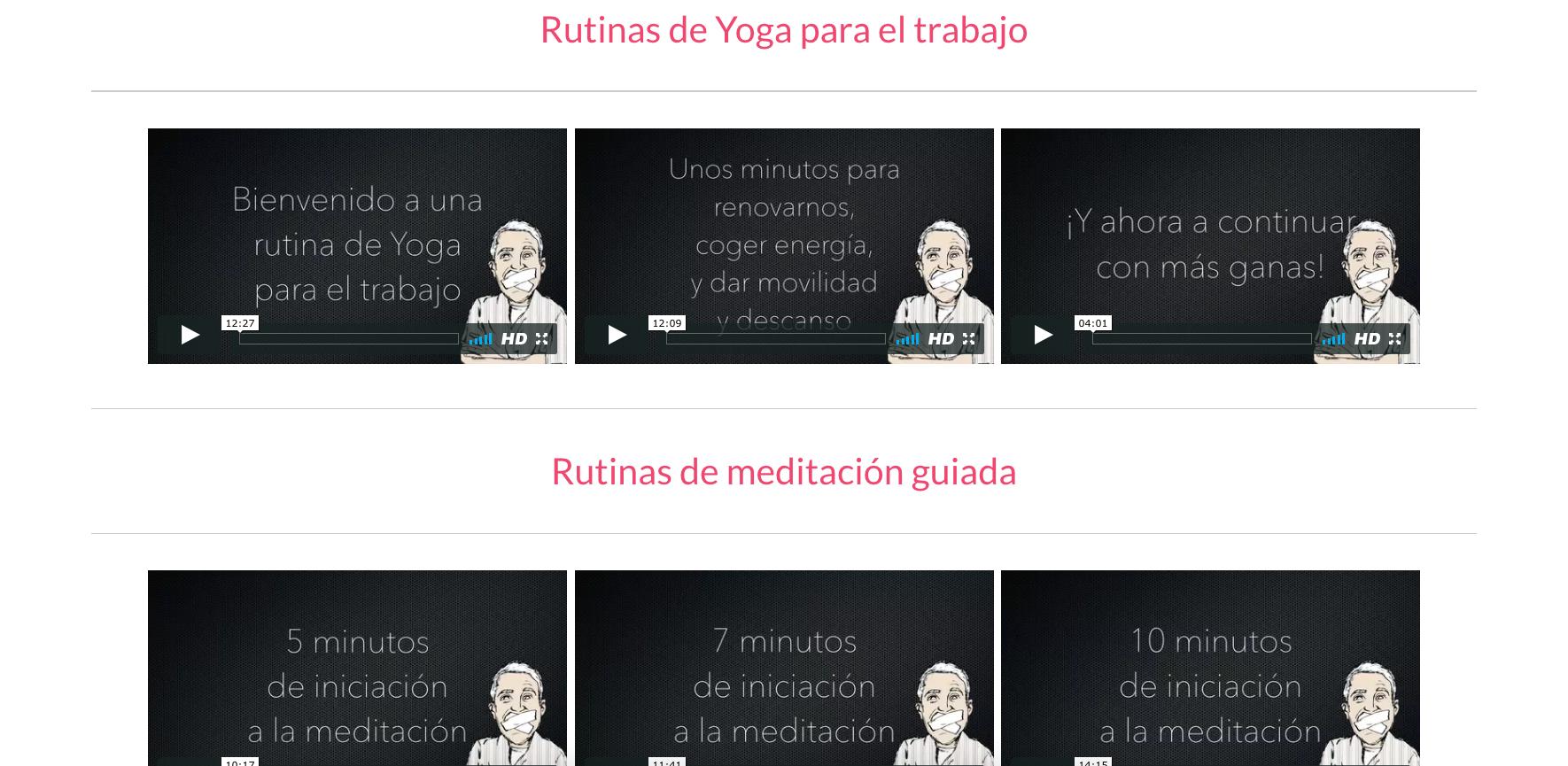 rutinas de yoga