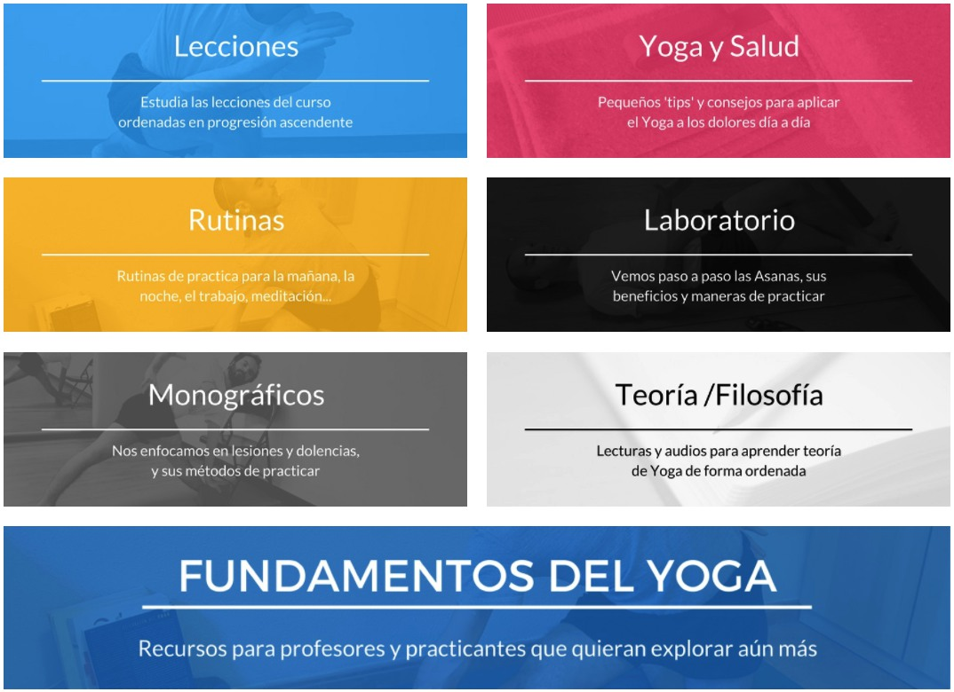 sala de practica del curso de yoga