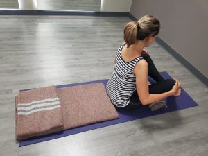 material de yoga de savasana para embarazadas