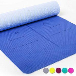 antideslizante yoga con marcas de práctica