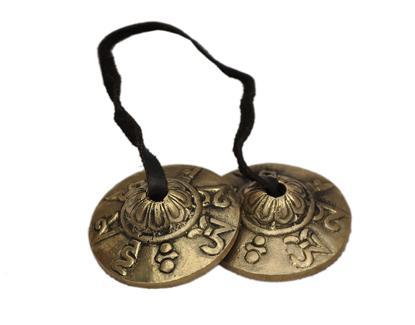 platillos tibetanos llamados crotalos