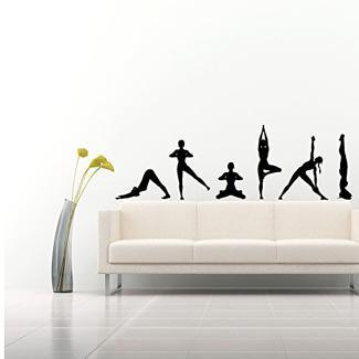 vinilo con Asanas de Yoga