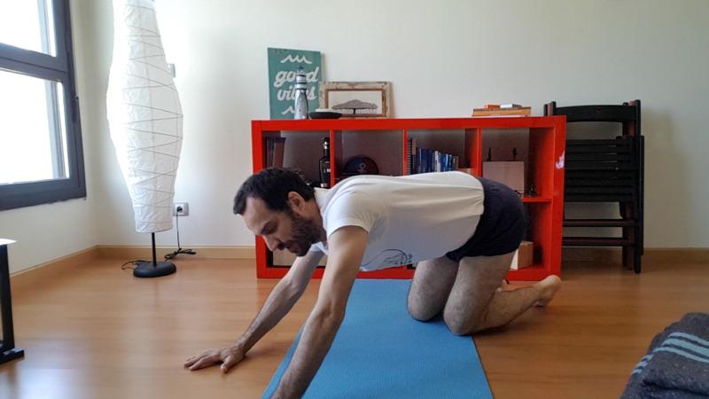giros con las caderas para el dolor lumbar