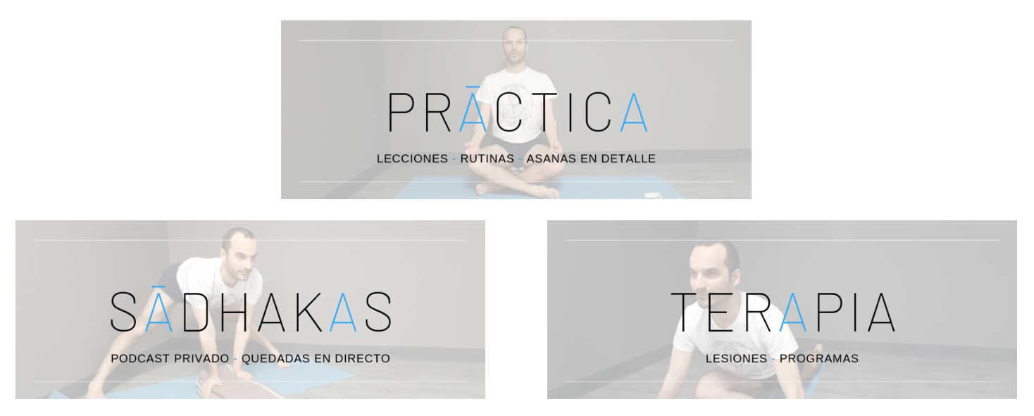 sala de práctica del curso de yoga online