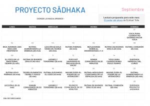 calendario septiembre proyecto sadhaka