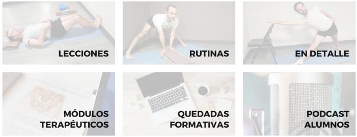 sala de práctica de Yoga online
